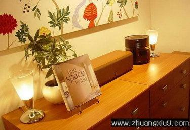 设计图片之书房装修图片:手机壁纸温馨书房实景图储物柜,书房