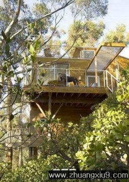 家庭室内装修设计图片之阳台装修图片:现代美式阳台实景图,