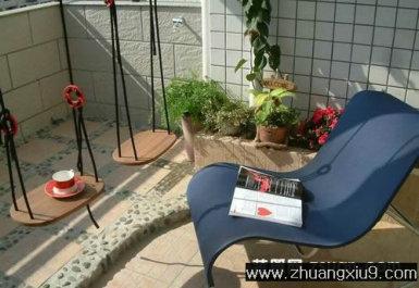 家庭室内装修设计图片之阳台装修图片:现代阳台实景图休闲