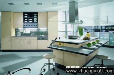 家庭室内装修设计图片之厨房装修图片:现代欧式厨房实景图