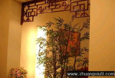 玄关装修图片:现代中式中户型玄关效果图暖色隔断,玄关装修图