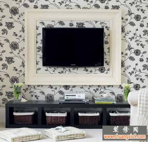 现代简约客厅液晶电视背景墙设计效果图2013与时代并进