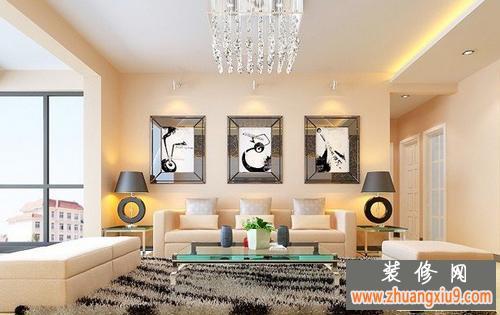 现代式客厅沙发背景墙装修效果图大全最新的图片美观又实用