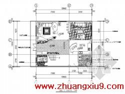 图(玄关、客厅背景、主卧)附3张效果图某四层别墅室内装修图