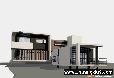 建筑高度:7m;   建筑层数:二层层;   屋顶形式:平屋顶;   结构